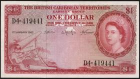 British Caribbean Territories P.07c 1 Dollar 1962 (1/1-)