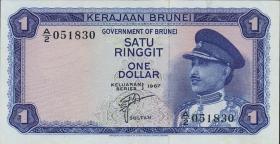 Brunei P.01 1 Ringgit 1967 (2)
