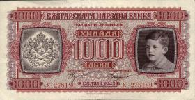 Bulgarien / Bulgaria P.067 1000 Lewa 1943 (2)