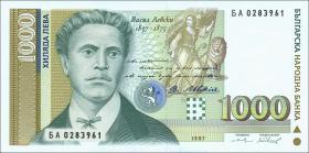 Bulgarien / Bulgaria P.105 1000 Lewa 1997 (1)