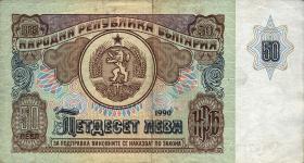 Bulgarien / Bulgaria P.098 50 Lewa 1990 (3-)