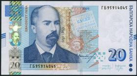 Bulgarien / Bulgaria P.neu 20 Lewa 2020 (1)