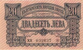 Bulgarien / Bulgaria P.063 20 Lewa 1943 (2)