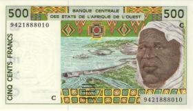 West-Afr.Staaten/West African States P.310Cd 500 Francs (1994) (1) Burkina Faso
