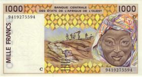 West-Afr.Staaten/West African States P.311Cd 1000 Francs (1994) (1) Burkina Faso