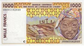 West-Afr.Staaten/West African States P.311Ck 1000 Francs 2000 (1) Burkina Faso