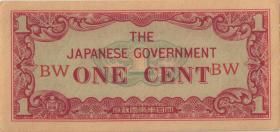 Burma P.09a 1 Cent (1942) (1) japanische Besetzung