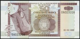 Burundi P.36e 50 Francs 2005 (1)