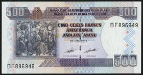Burundi P.45b 500 Francs 2011 (1)