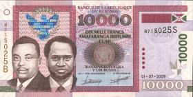 Burundi P.49a 10000 Francs 2009 (1)