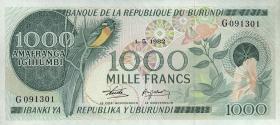 Burundi P.31b 1000 Francs 1982 (1)