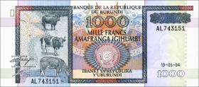 Burundi P.39a 1000 Francs 1994 (1)