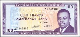 Burundi P.29a 100 Francs 1979 (1)