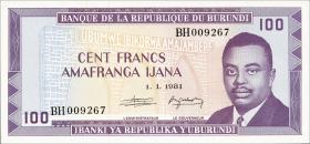 Burundi P.29b 100 Francs 1981 (1)