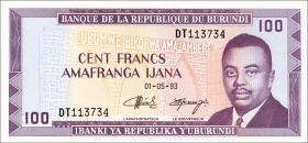 Burundi P.29c 100 Francs 1993 (1)