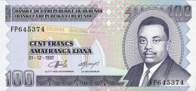 Burundi P.37b 100 Francs 1997 (1)