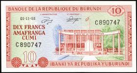 Burundi P.20a 10 Francs 1968 (1)