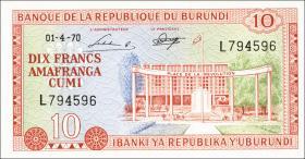 Burundi P.20b 10 Francs 1970 (1)