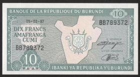 Burundi P.33d 10 Francs 1997 (1)