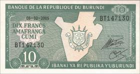 Burundi P.33e 10 Francs 2005 (1)