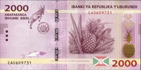 Burundi P.52 2000 Francs 2015 (1)