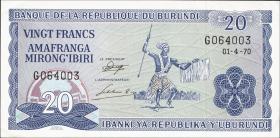 Burundi P.21b 20 Francs 1970 (1)