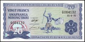 Burundi P.21b 20 Francs 1973 (1)