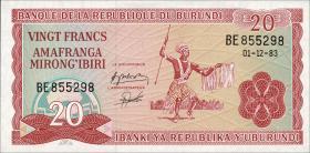 Burundi P.27b 20 Francs 1983 (1)