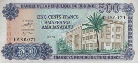 Burundi P.34a 500 Francs 1979 (1)