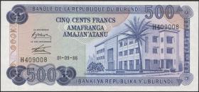 Burundi P.30b 500 Francs 1986 (1)
