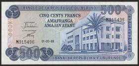 Burundi P.30c 500 Francs 1988 (1)