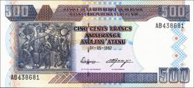 Burundi P.38a 500 Francs 1997 (1)