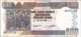 Burundi P.38b 500 Francs 1999 (1)