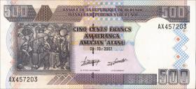 Burundi P.38d 500 Francs 2007 (1)