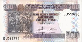 Burundi P.45c 500 Francs 2013 (1)