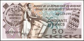 Burundi P.28a 50 Francs 1977 (1)