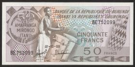Burundi P.28c 50 Francs 1989-1991 (1)