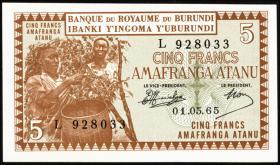 Burundi P.08 5 Francs 1965 (1)