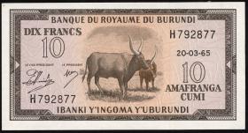 Burundi P.09 10 Francs 20.3.1965 (1)