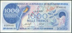 Burundi P.25b 1000 Francs 1976 (2/1)