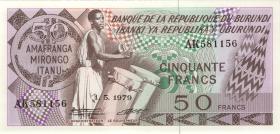 Burundi P.28a 50 Francs 1979 (1)