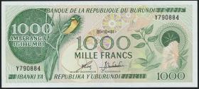 Burundi P.31d 1000 Francs 1991 (1)