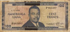 Burundi P.17b 100 Francs (1966) (3/4)