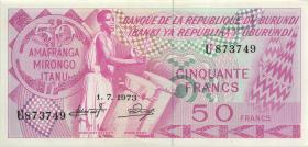 Burundi P.22b 50 Francs 1973 (1)