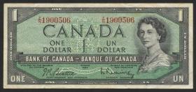 Canada P.074b 1 Dollar 1954 (1955-72) (3)