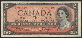 Canada P.076a 2 Dollars 1954 (1955-61) (3)