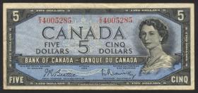 Canada P.077b 5 Dollars 1954 (1961-72) (3)