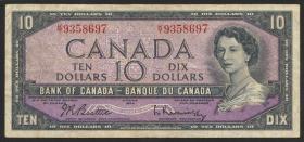 Canada P.079b 10 Dollars 1954 (3)