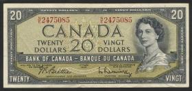 Canada P.080b 20 Dollars 1954 (3)