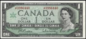 Canada P.084b 1 Dollar 1967 (1)